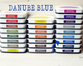 Large MEMENTO  raised dye ink pad DANUBE BLUE