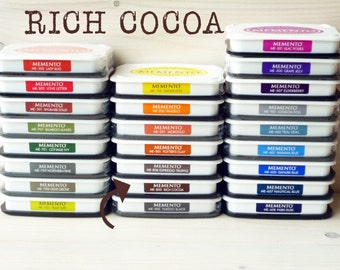 Large MEMENTO  raised dye ink pad RICH COCOA