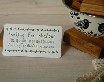 Twisting Vine 3/4 Line Business Promotion Olive Wood Stamp