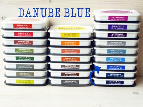 Large MEMENTO  raised dye ink pad DANUBE BLUE