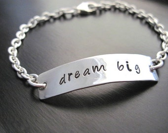 "Sterling Silver ""Dream Big"" Bracelet"