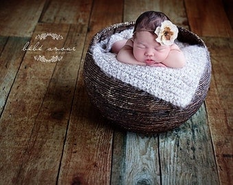 Baby Blanket Newborn Photo Prop Blanket Newborn Baby Photography Prop Hand Crochet Blanket