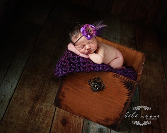 Newborn Photo Prop Super Chunky Baby Blanket Photography Prop Basket Filler Basket Stuffer Mini