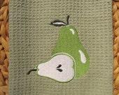 Pear (Green Mist) - Microfiber Waffle Weave Kitchen Hand Towel