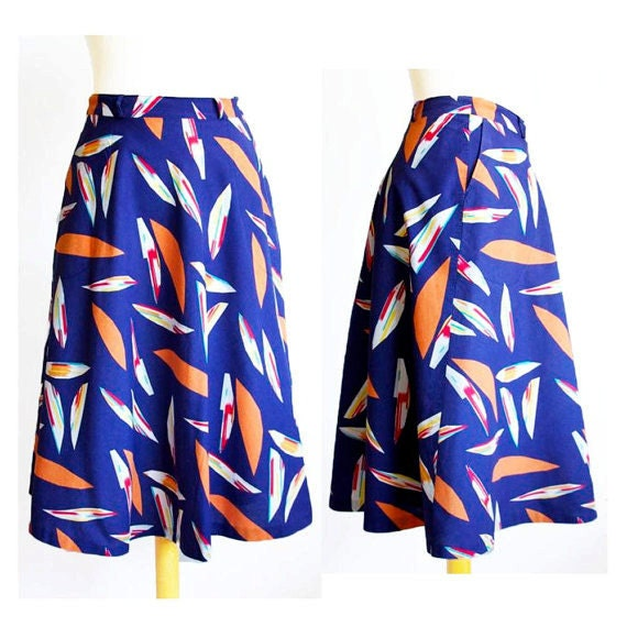 Sailorette Swing Skirt With Pockets / S