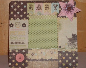 Newborn Baby Decoupaged Picture Frame