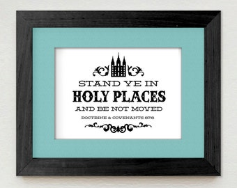 STAND Ye in HOLY PLACES Young Women's Design- Instant Printable Download also available in Spanish Permaneced en Lugares Santos