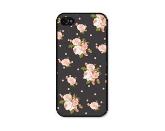 Floral Phone Case - Floral iPhone 6 Case - Floral iPhone 5 Case - Grey Pink Floral iPhone 5c Case Floral iPhone 6 Plus Case - iPhone Case