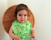 Free Shipping Flannel Teething Baby Bib / Toddler Bib Made In Israel by CasaDeGato