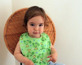 Flannel Teething Baby Bib / Toddler Bib Made In Israel by CasaDeGato
