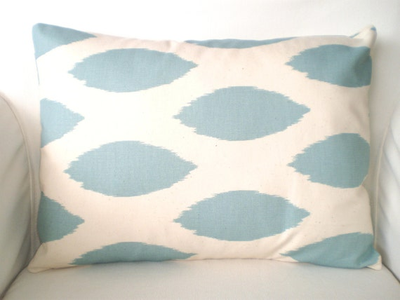 blue lumbar pillow cover decorative throw pillow cushion cover