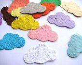 25 Plantable confetti CLOUDS- choose from 16 colors- Wildflower blend