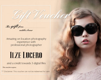Gift voucher/card/coupon 5X7in digital Photoshop template PSD