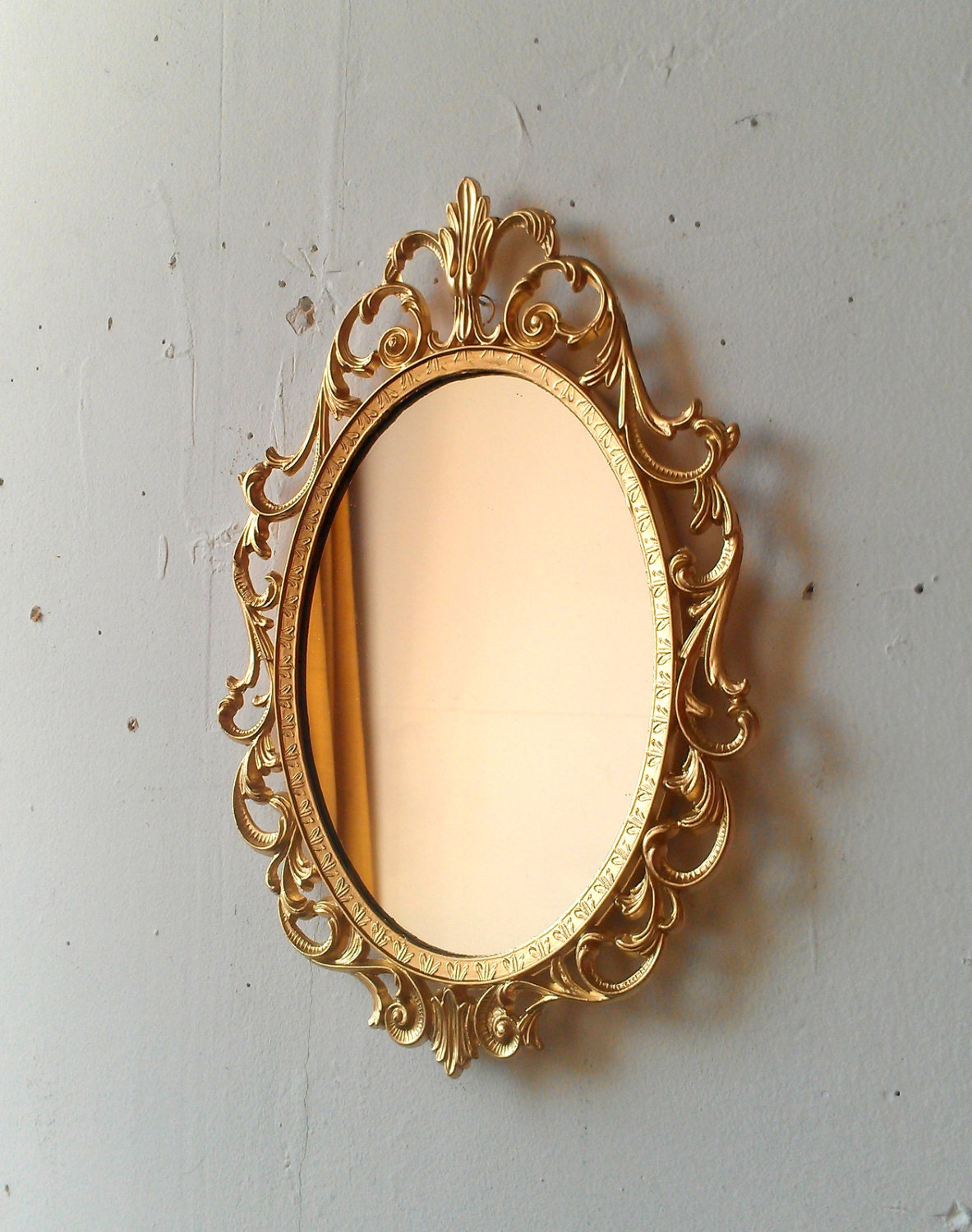 Details about brass photo frame vintage ornate oval frame victorian - Gold Princess Mirror In Ornate Vintage Oval Frame 10 By 7