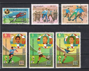 33  Postage Stamps - Football - Soccer