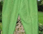 Summer Fun Pedal Pusher Capri Long pants Lime Green Retro I Love Lucy