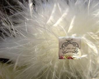 Ivory Marabou Boa Feathers