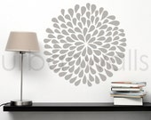 Vinyl Wall Sticker Decal Art, Large Flower