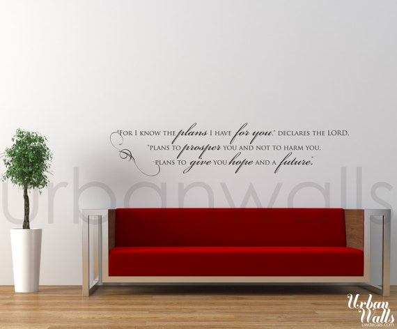 Vinyl Wall Sticker Decal Art - Hope and a Future