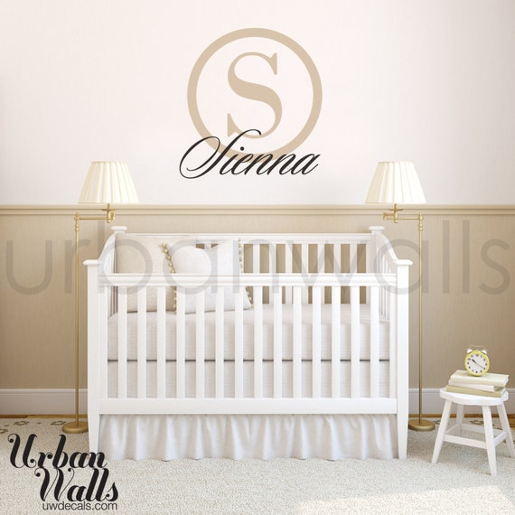 Vinyl Wall Sticker Decal Art - Baby Name