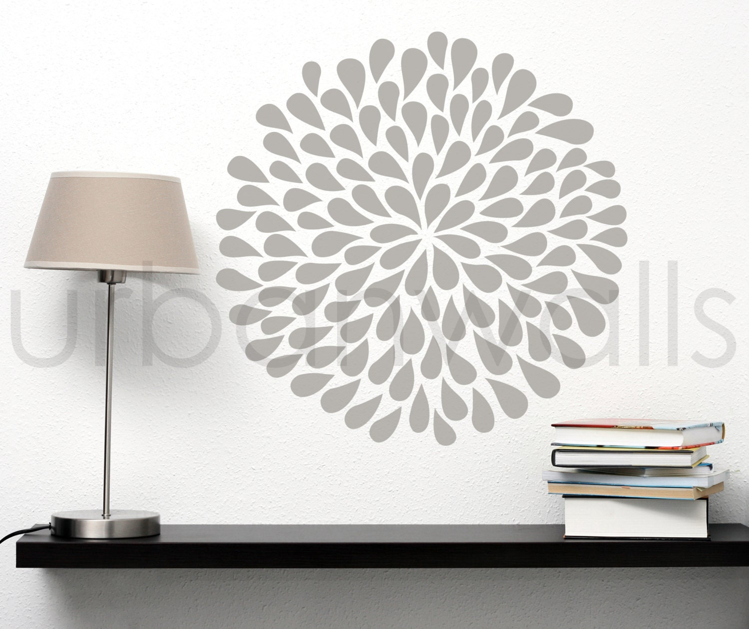 Vinyl wall sticker decal art large flower zoom amipublicfo Gallery