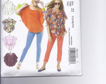 McCalls 6510 Easy Misses Tops Sewing Pattern,  Easy Sewing Pattern