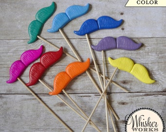 CHOOSE YOUR COLOR - Mustache on a Stick - The Nostalgist