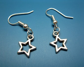 Tiny Star Earrings - itty bitty jewellery cute earrings fun rockabilly earrings chic kawaii earrings minimal jewelry silver plated szeya