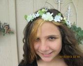 Floral hair wreath - Flower girl hair wreath - Hippe flower wreath -  Ladies hair wreath