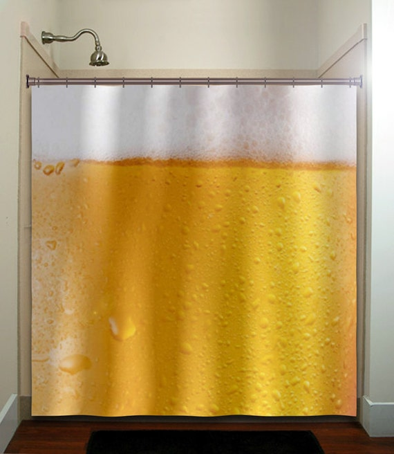 drink froth beer shower curtain fabric extra long window