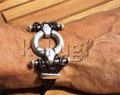 Mens sterling silver bracelets, cool mens bracelets, mens wristbands, jewelry for Men, jewelry bracelets, leather bracelets, leather jewelry