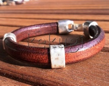 Sterling silver bracelets, mens silver bracelet, leather cuff bracelets, bracelet for Men, popular bracelets, cool bracelets for guys