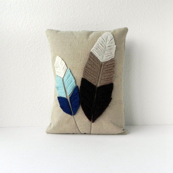 Feathered Pillow Cover