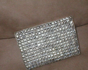 Antique Vintage RHINESTONE Beaded Clutch Purse