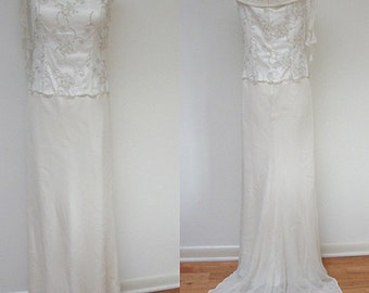 Vintage high-fashion John Russell Wedding Gown