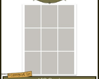 ATC Cards Commercial Use Layered Template