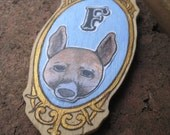 FREE SHIPPING WORLDWIDE Wooden Custom Pet Portrait Handmade Katherine and Punky