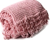 Pink Blanket - Baby Girl Blanket - Baby Shower Gift - Super Soft Blanket - Nursery Blanket - Pink Pompom Blanket - Photo Prop