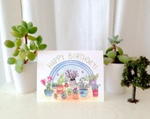 Happy Birthday Houseplants Card