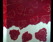 Hearts photo album red batik paper for wedding or anniversary Valentine Day gift  scrapbook guest book