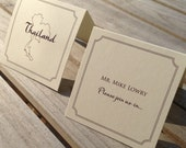 The Bree Escort Cards - Tented