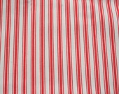 Vintage Fabric Orange Ticking Stripe 46 by 60 inches