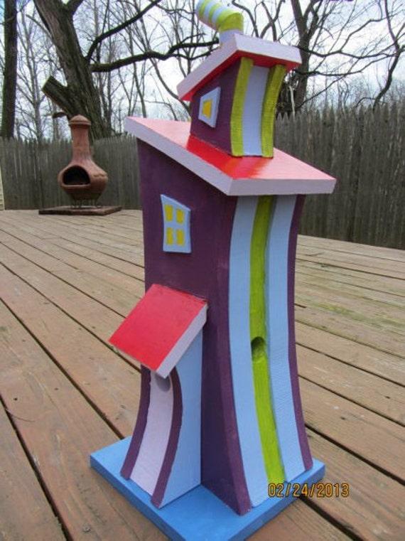 """Handmade Custom Wooden """"Whimsical Dr Seuss-style"""" 2- story Function..."""