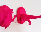 T-Rex mini taxidermy set-pink