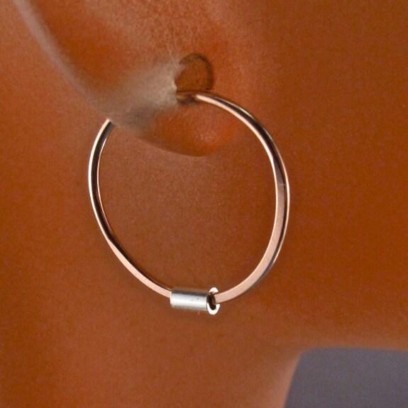 Tiny Gold Hoop Earrings Rose Gold Sleeper Small Hoops