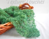Green Lacy Newborn Baby Veil Photo Prop in Sunny Glen colors