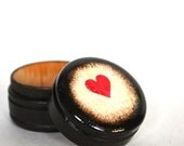 Single Heart  Pill Box - Valentine's Day Wood Gift Box, Heart Pill Box, Small pill box, Ring Bearer Box, Wedding Ring Box