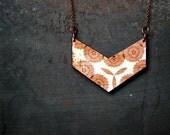 Norwegian Wood Chevron Wood Necklace - Boho Necklace - Everyday