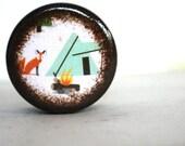 Fox And Tent Pill Box - Stocking Stuffers
