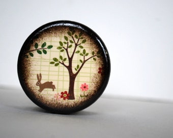 First Sign Of Spring Wood Box - Bunny Powder Box